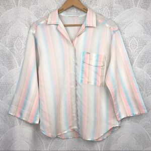 Vintage Cabrais Striped button down top